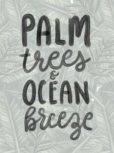 Palm Trees Ocean Breeze Typography by Jetty Printables