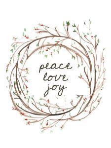 Peace Love Joy Wreath by Jetty Printables