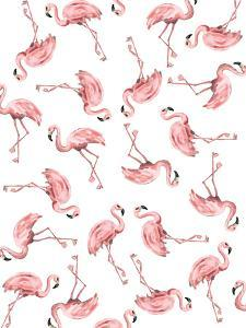 Pink Flamingo Pattern by Jetty Printables