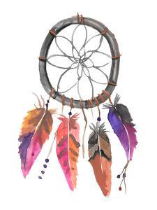 Pink Watercolor Dream Catcher by Jetty Printables