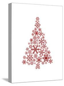 Red Snowflake Tree by Jetty Printables