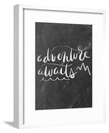 Silver Chalkboard Adventure Awaits Typography