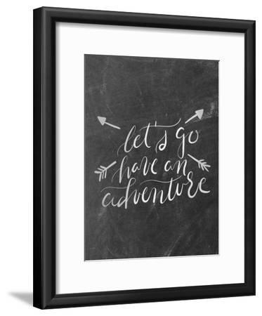 Silver Chalkboard Adventure Typography