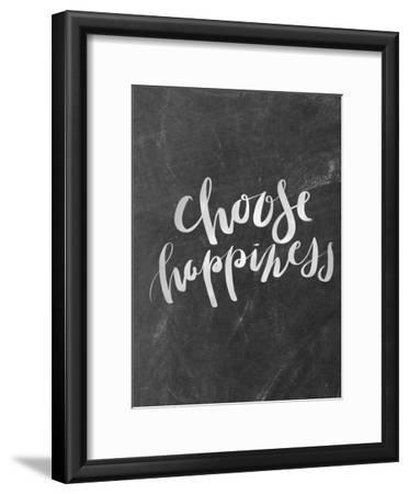 Silver Chalkboard Choose Happiness Typography