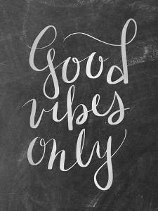 Silver Chalkboard Good Vibes Typography by Jetty Printables