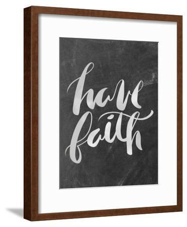 Silver Chalkboard Have Faith Typography
