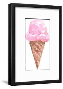 Strawberry Watercolor Ice Cream Cone by Jetty Printables