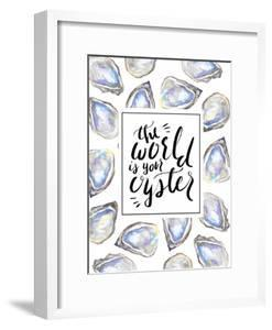 The World Is Your Oyster Typographic Art by Jetty Printables