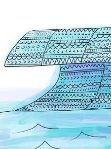 Tribal Blue Wave Boho Art by Jetty Printables