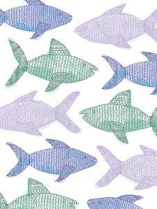 Tribal Fish Pattern Pastel by Jetty Printables