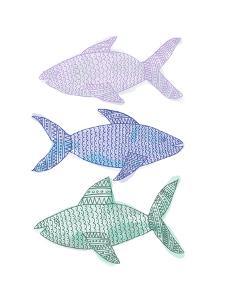 Tribal Fish Trio by Jetty Printables
