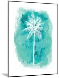 Watercolor Aqua B Palm by Jetty Printables