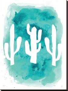 Watercolor Aqua Cactus by Jetty Printables