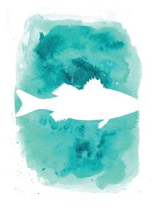 Watercolor Aqua Sea Bass by Jetty Printables