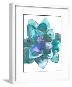 Watercolor Blue And Green Succulent 2 by Jetty Printables