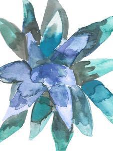Watercolor Blue And Green Succulent 3 by Jetty Printables