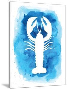 Watercolor Blue Background Lobster by Jetty Printables