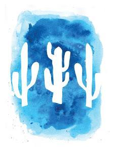 Watercolor Blue Cactus by Jetty Printables