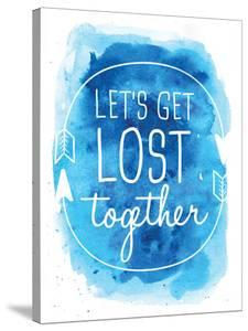 Watercolor Blue Let's Get Lost by Jetty Printables