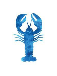 Watercolor Blue Lobster by Jetty Printables