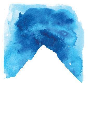 Watercolor Blue Mountain