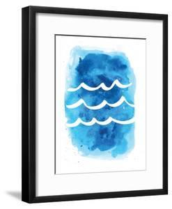 Watercolor Blue Waves by Jetty Printables