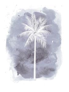Watercolor Gray B Palm by Jetty Printables