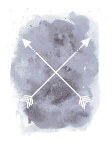 Watercolor Gray Background Arrow by Jetty Printables