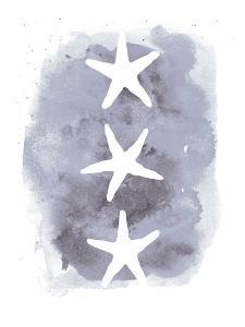 Watercolor Gray Background Starfish by Jetty Printables