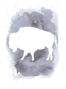 Watercolor Gray Buffalo by Jetty Printables