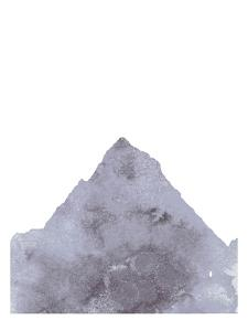 Watercolor Gray Mountain 1 by Jetty Printables