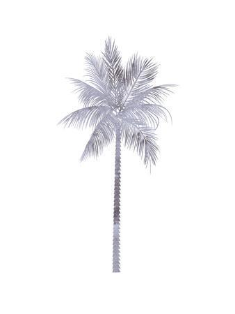 Watercolor Grey Palm