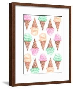 Watercolor Ice Cream Cone Pattern by Jetty Printables
