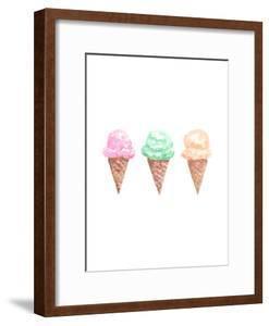 Watercolor Ice Cream Cone Trio by Jetty Printables