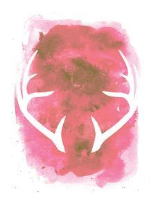 Watercolor Pink Antlers by Jetty Printables