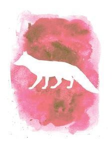 Watercolor Pink Fox by Jetty Printables