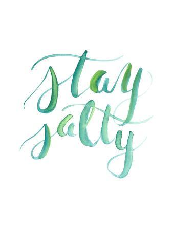 Watercolor Stay Salty Art