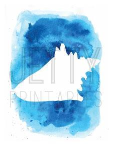 Watermark Watercolor Blue Background by Jetty Printables
