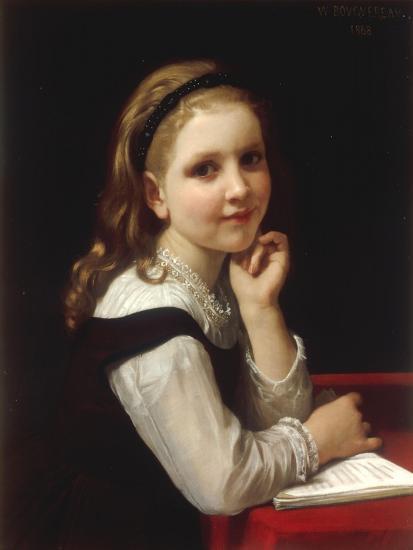 Jeune Ecoliere, 1868-William Adolphe Bouguereau-Giclee Print