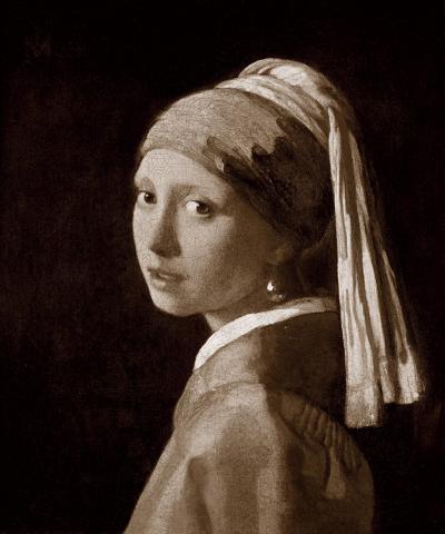Jeune Fille A La Perle-Johannes Vermeer-Premium Giclee Print