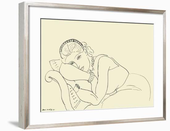 Jeune Fille avec Tiare-Henri Matisse-Framed Art Print