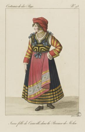 Jeune fille de Caravilli, dans la province de Molise