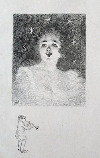 Jeune fille-Adolphe Willette-Art Print