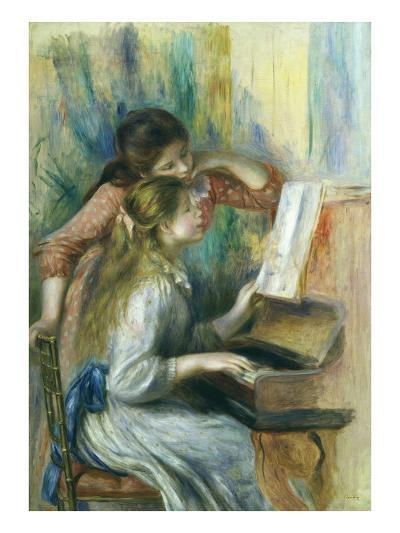 Jeunes Filles Au Piano, Young Girls at the Piano, C. 1892-Pierre-Auguste Renoir-Giclee Print