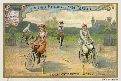 Jeux Cyclistes, Cycling around Skittles in France--Giclee Print