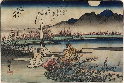 Jewel River of Noji in Omi Province, 1835-1837-Utagawa Hiroshige-Giclee Print