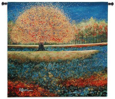 Jewel River-Melissa Graves-Brown-Wall Tapestry