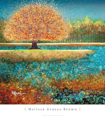 Jewel River-Melissa Graves-Brown-Art Print