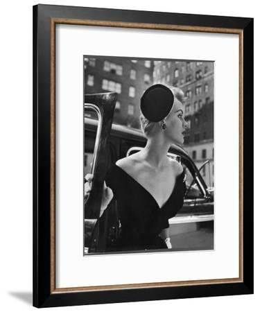 Jeweled Stay Put Cocktail Hat at Reckless Angle-Nina Leen-Framed Photographic Print