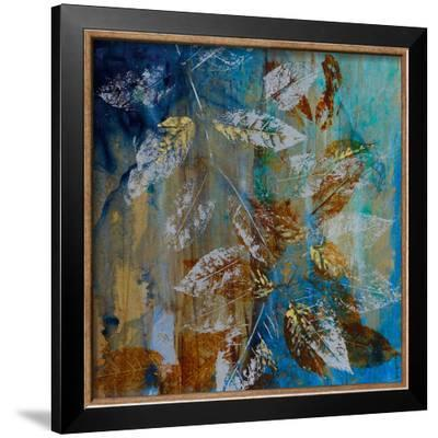 Jewelled Leaves XII-Jennifer Hollack-Framed Art Print